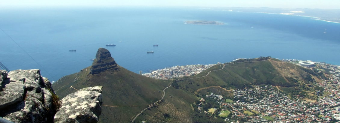 Table Mountian - view over Robben Island
