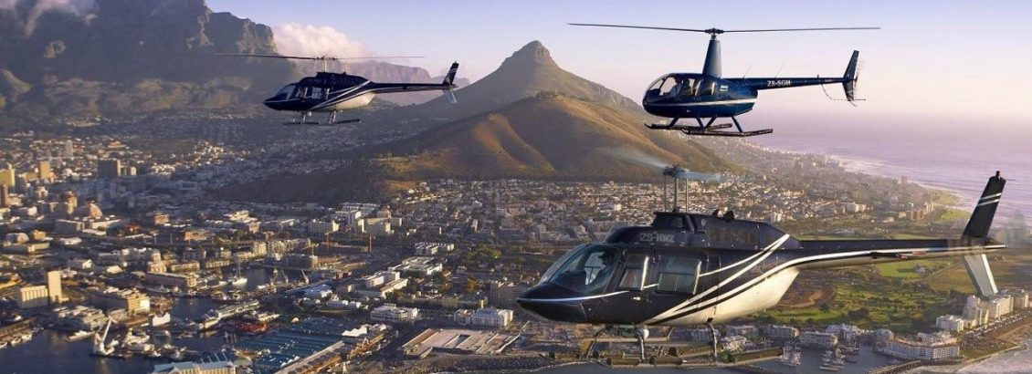 Lions Head and Signal Hill and Table Mountain helicopter rides