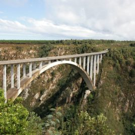 Bloukrans Bridge where the bungy jump takes place.