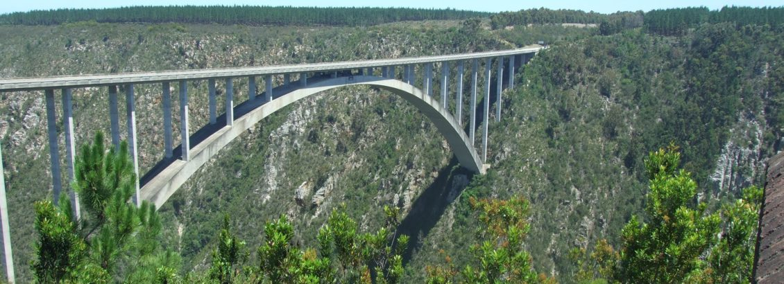 Bloukrans bridge worlds highest bridge - bungy jumps are made from.