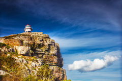 Cape Point lighthouse on the south - western part of africa, travel and tourism concept