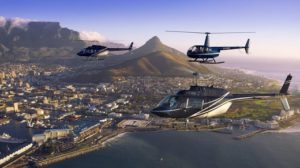 Helicopter flips around Cape Town
